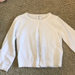 Carters White Cardigan 18 Months